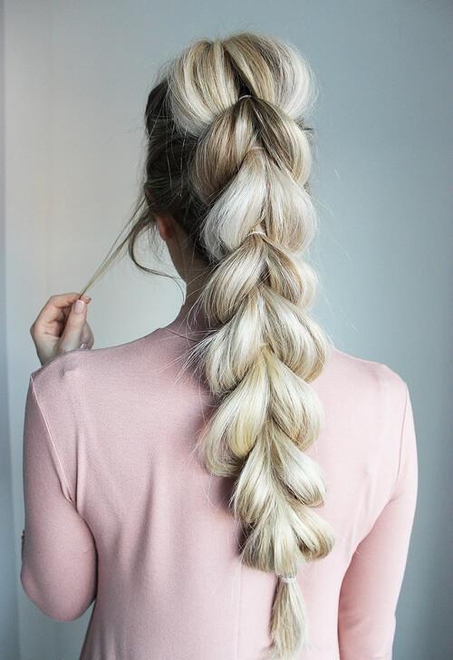 hair extensions Bubble Braids